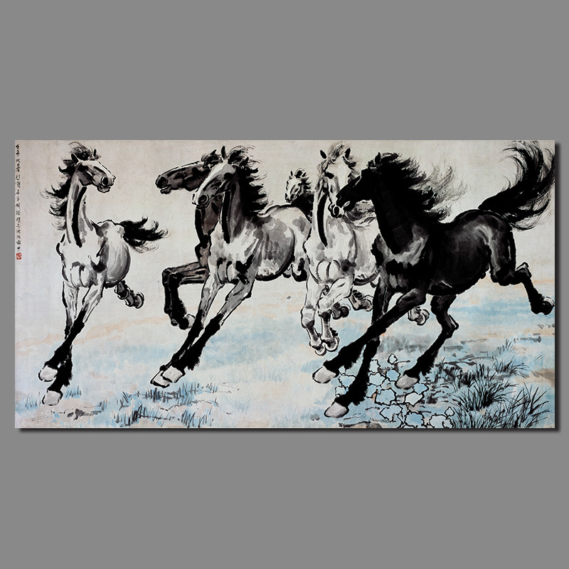 Online Buy Wholesale famous paintings horses from China ...