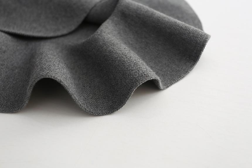 Wool knit solid short skirt girls half skirt 2017 new Korean children\'s clothing children\'s skirt (18)