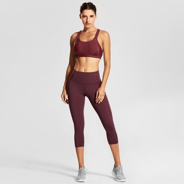 Women's Front Adjustable High Impact Sports Bra