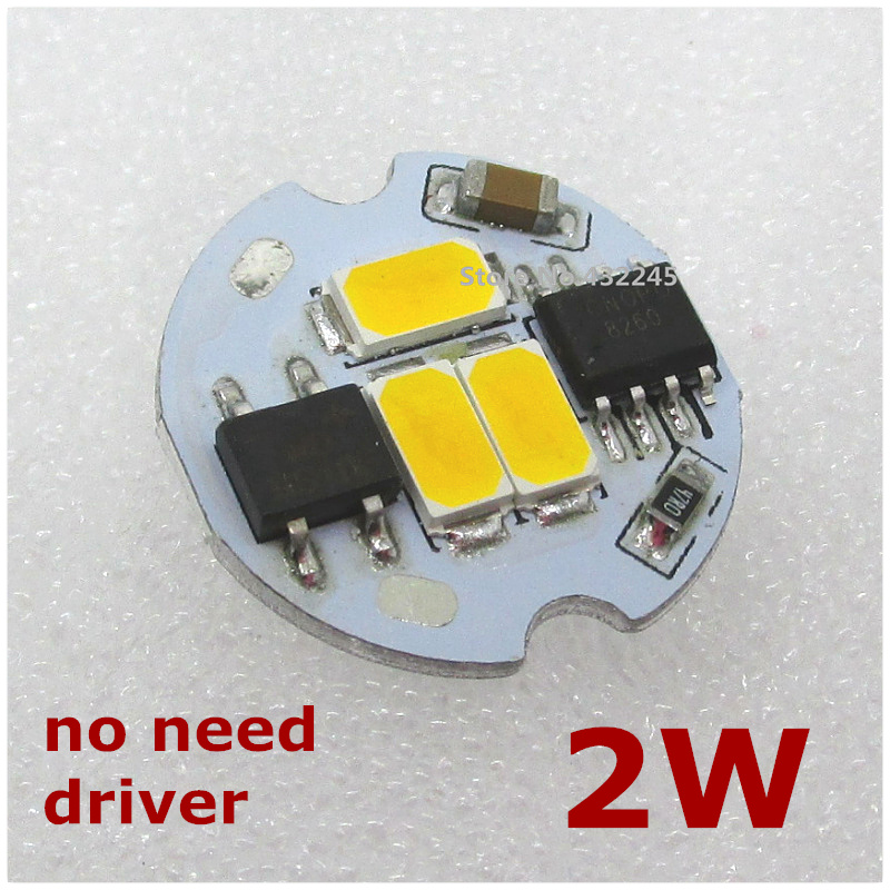 AC 220V directly 2W COB Shape Integrated IC LED PCB With SMD 5730 Aluminum Base Plate no need driver. 19mm,200LM free shipping.