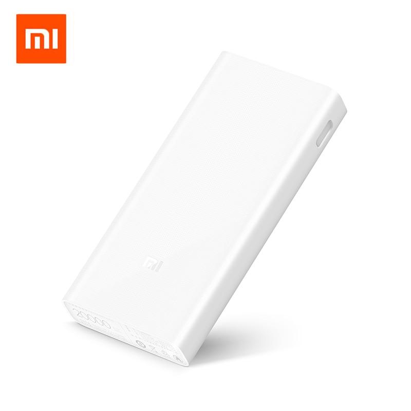 Оригинал Сяо Mi Ми 20000 мАч Запасные Аккумуляторы для телефонов 2C двойной Порты USB двусторонней Quick Charge QC3.0 20000 мАч Мощность банк для IOS Android