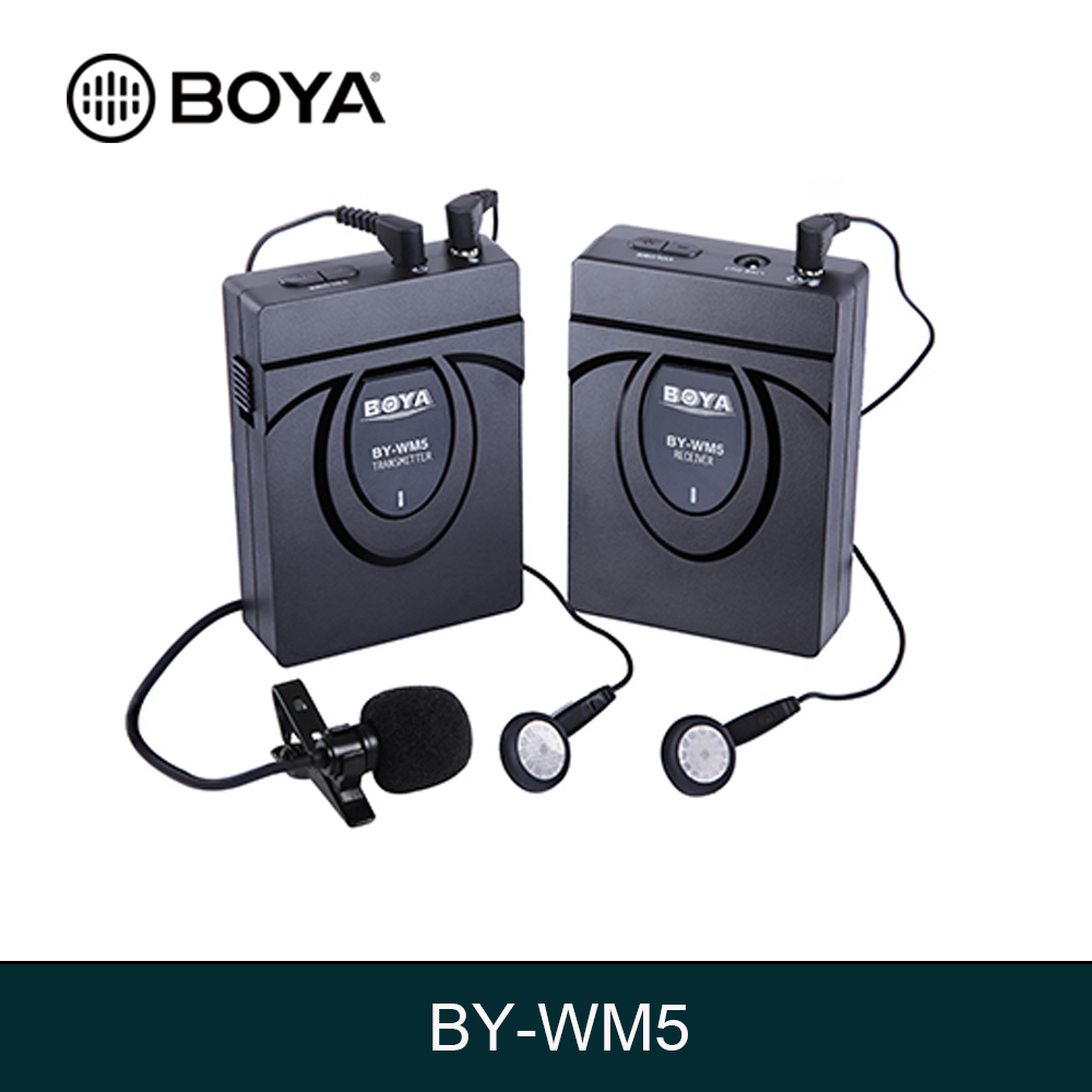 BOYA BY-WM6 / BY-WM5 / BY-WM8 Pro-K2 UHF Wireless Microphone System Omni-directional Lavalier Microphone for ENG EFP DV DSLR boya by wm6 uhf omni directional lavalier microphone ultra high frequency 48 channel for canon dslr for sony camera camcorders