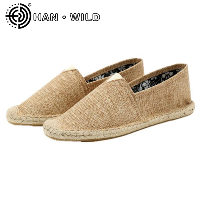 Hemp Soft Women Casual Shoes Slip on Women Shoes Breathable Female Espadrille Fisherman Shoes Hnd Made Women Flats