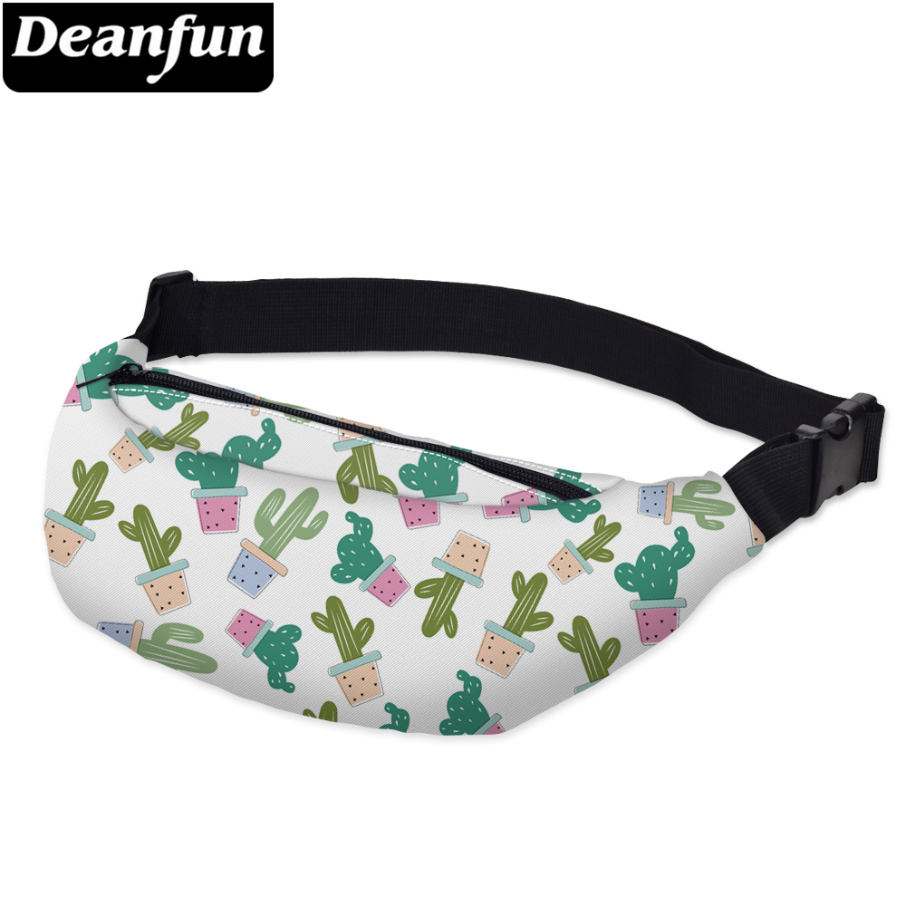 Deanfun Waist Bags 3D Printed Cactus Pattern Hip Bum Bags  Casual For Outdoors Girls Travelling YB18