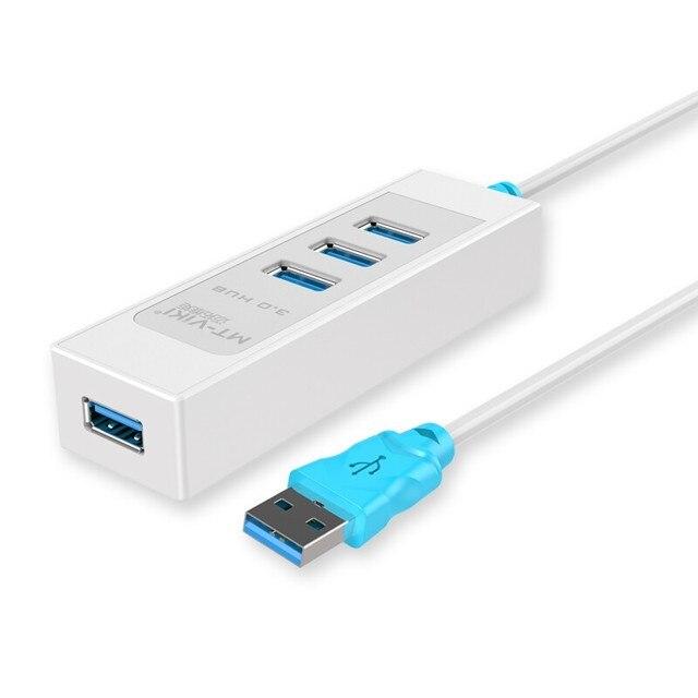 MT-VIKI 4 Puertos USB3.0 HUB Super Speed USB 3.0 de Alta Calidad Distribuidor