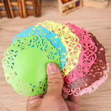 Lace Flower Doilies Silicone Coaster Tea Cup Mats Pad Insulation Placemat LAU Cup Mats Desk Decor(China)