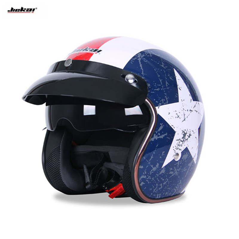 2018 Harley Retro Helmets Chopper Vintage Motorcycle Helmet Motocicleta Open Face Cacapete Casco Casque armwood 524 074 primary