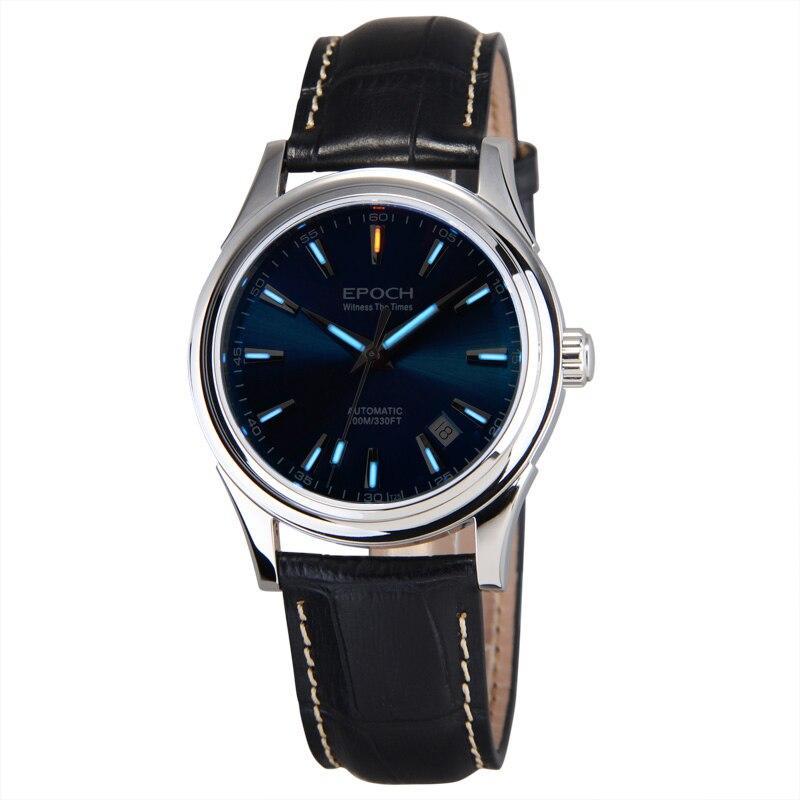 EPOCH 6029G SEA-GULL mouvement tritium gaz lumineux saphir miroir hommes d'affaires automatique montre mécanique montre-bracelet