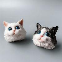 Grainrain Cat мыло формы животных силиконовые мыло формы DIY ремесло домашние свечи смолы плесень