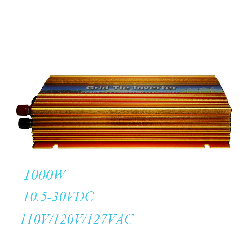 цена на MAYLAR@ Inverter 1000W Solar Power on Grid Tie DC 10.5-30V to AC 90-140V Pure Sine Wave Voltage Converter Fit For Panel Cells