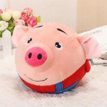 Детская электрическая игрушка плюшевая мультяшная свинья прыгающий мяч музыкальная игрушка Детские игрушки