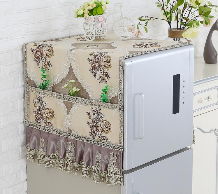 Fyjafon Refrigerator Covers Dust Cover Decor Printed Kitchen Dustproof Covers With Storage Bag 55*130/60*180/70*180