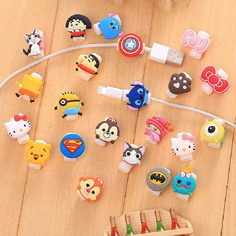 Cartoon Cable Protector Data Line Cord Protective Case Winder Cover For iPhone  Charging