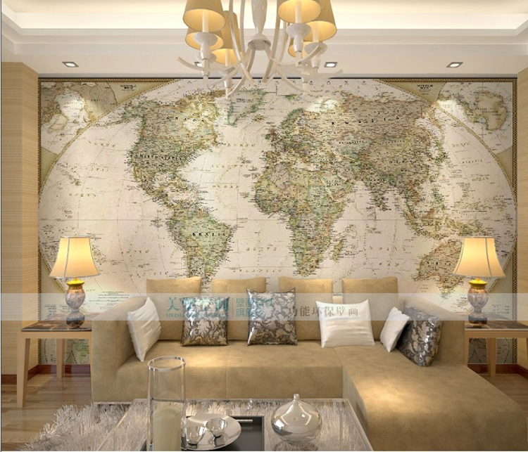 Custom photo wallpaper large mural office world map wallpaper custom photo wallpaper large mural office world map wallpaper bedroom sofa background wallpaper non woven mural in wallpapers from home improvement on gumiabroncs