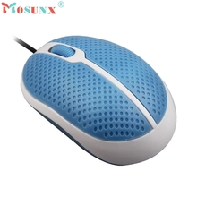 Del 1200 DPI USB Wired Optical Gaming Mice Mouse For PC Laptop Desktop Blue Mar04