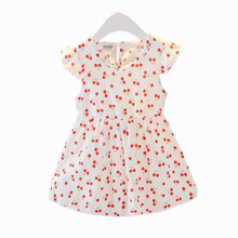 цена на Kids Girl Sleeveless Dress Summer Girls Prined Flower Dresses Children Clothes Baby Cotton Princess Dress Outfits