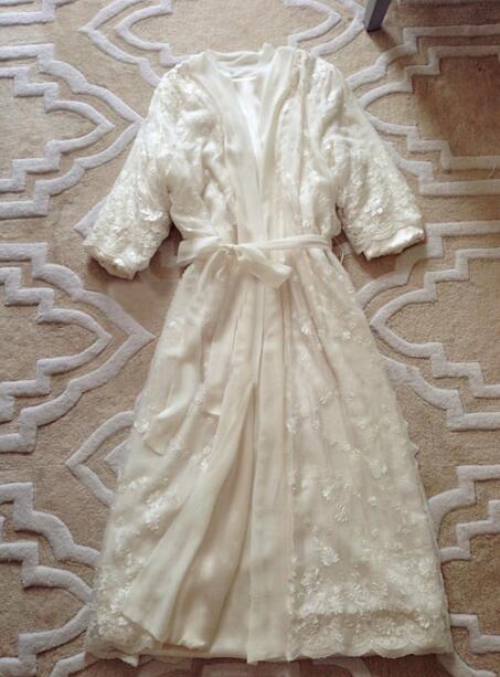 Silk Pajamas Women's Princess Two-Piece Set Nightgown Robe Suits Belt Jacquard Sleepwear Nightdress Nightwear
