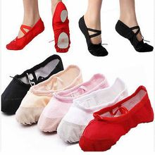 Female Adult Soft Dancing Ballet Shoes for Women Comfortable Fitness  Breathable Canvas Practice Gym Ballet Pointe Dance Shoes c8125fcbb0da