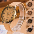 1pc Casual Wooden Color Simulation Leather Strap men women watches clocks unisex gift Quartz Wristwatches Relojes Masculino H5