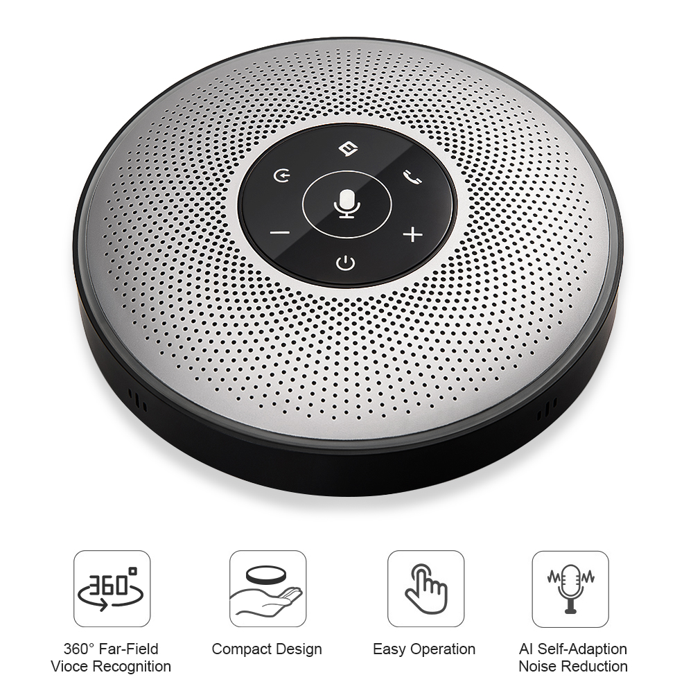 Intelligent Wireless Conference Speakerphone eMeet M2 Business Speakerphone Conferencing mobile Far Field Voice Recognition S0