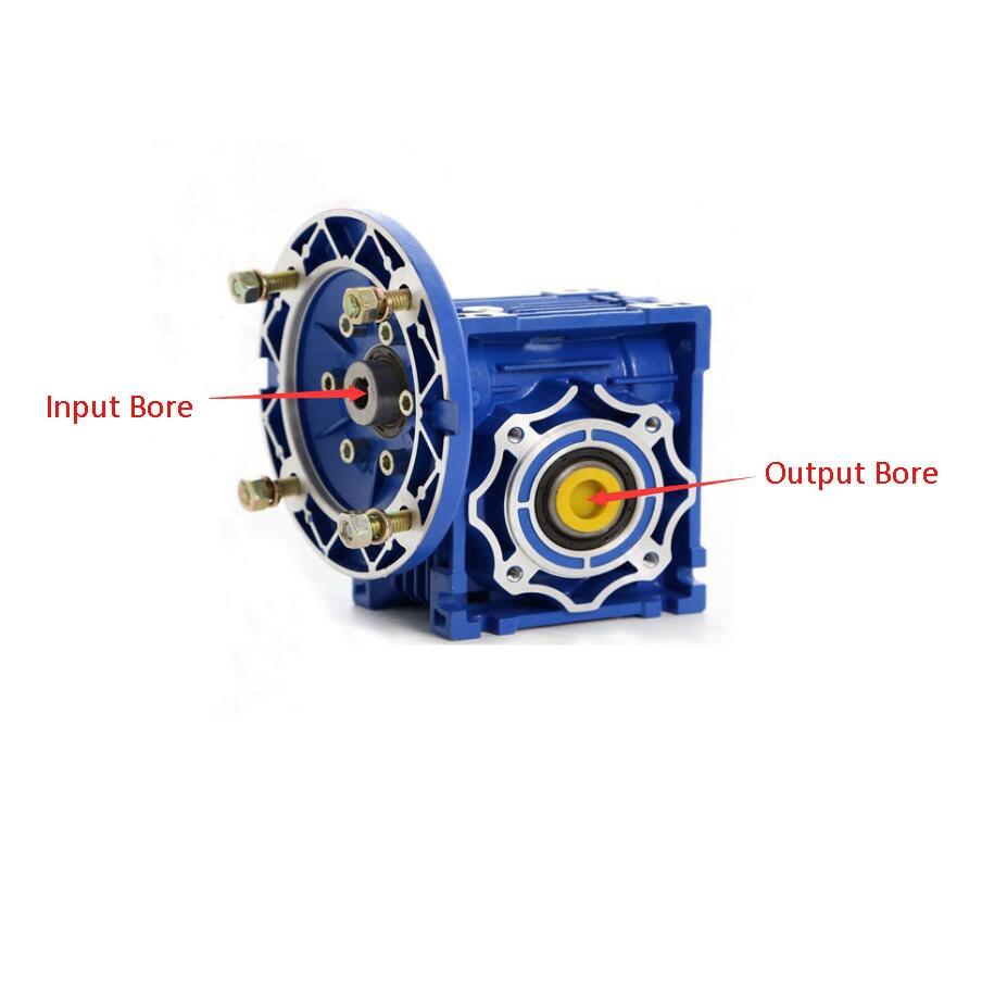NMRV050 60 1 Worm Gear Reducer 25mm Single Output Shaft 3 Phase 380v Single 2 Phase