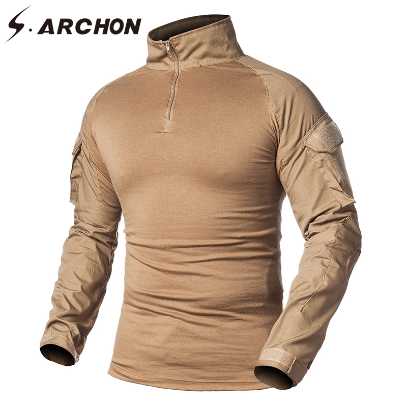 b7de98b242c6 S.ARCHON Summer Quick Dry Tactical Short Sleeve Shirts Men Breathable  Lightweight Military Cargo Shirt Casual Loose Army Shirts
