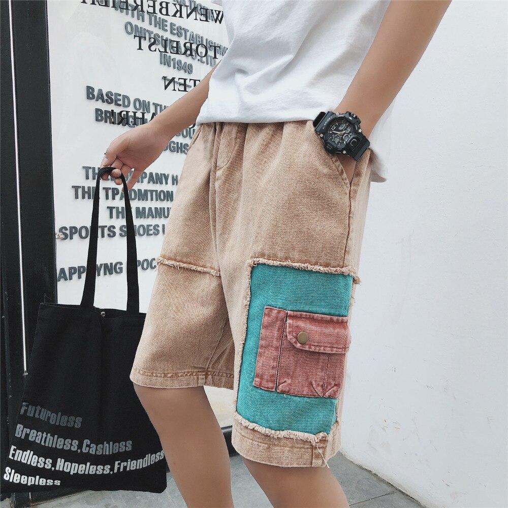 New Fashion Mens Cargo Short Jeans Summer Brand Clothing Bermuda Cotton Shorts Men Breathable Denim Shorts Male Plus Size 5XL-M