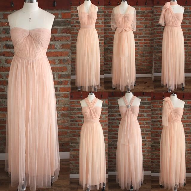 473828a3b211 Mingli Tengda Tiffany Bridesmaid Dress Long Wedding Party Dress Elegant  Women Pink Bridesmaid Dresses one Dress Variety of Wear