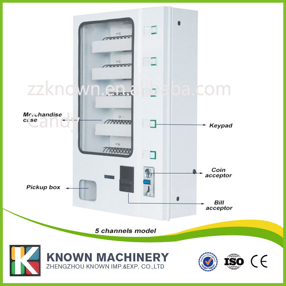 small vending machine with coin acceptor with 5 display