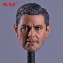 New 1:6 Scale George Clooney Head Sculpt fit 12Action Figure for Collection as Gift