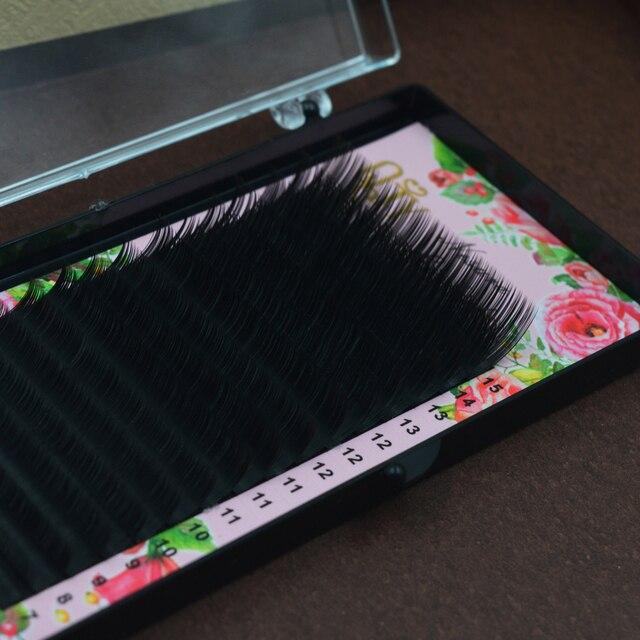 Mix Size 7 to 15 mm 16 lines High quality mink synthetic eyelash single natural eyelashes fake false eye lash make up 2