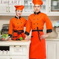 Chef jacket chef uniform for women Cooks kitchen colors high quality chef uniforms B003X