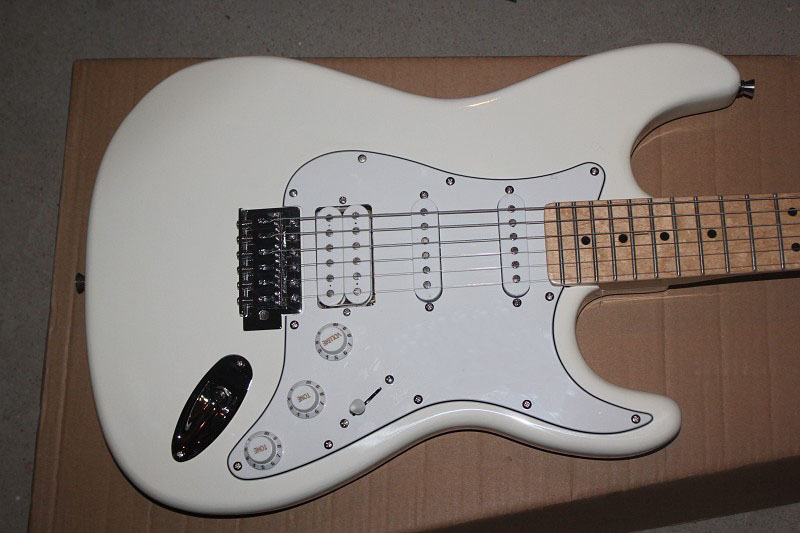 Factory Custom Musical Instrument High quality new arrival stratocaster white Electric guitar Free Shipping 725 . shipping free new arrival factory direct jackson style electric guitar rock voice metal feeling support customization picture