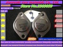 Aoweziic 2018 + 100 ٪ جديد المستوردة الأصلي MJ15024G MJ15025G MJ15024 MJ15025 TO 3 الذهب مختومة مكبر كهربائي الصوت (1 مجموعات)