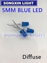 2000 PCS/Lot 5MM bleu Diode LED ronde diffuse bleu couleur lumière lampe F5 DIP mettre en évidence nouveau gros électronique
