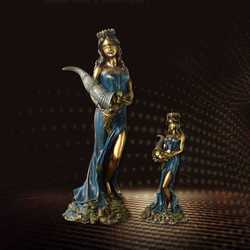 Greek Mythology Fortune Goddess Fortune Decorates Sculptures Gift Office Lucky Fortune Accessories Ornaments Crafts R1586