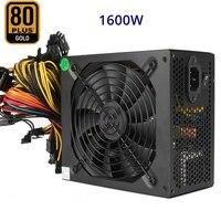 PC Sever ATX Power Supply 1600W 80 Gold Altcoin Crypto Coin PSU Mining Rig GPU For GTX1080 1060 RX470 480 570 Eth ETC BTC XMR