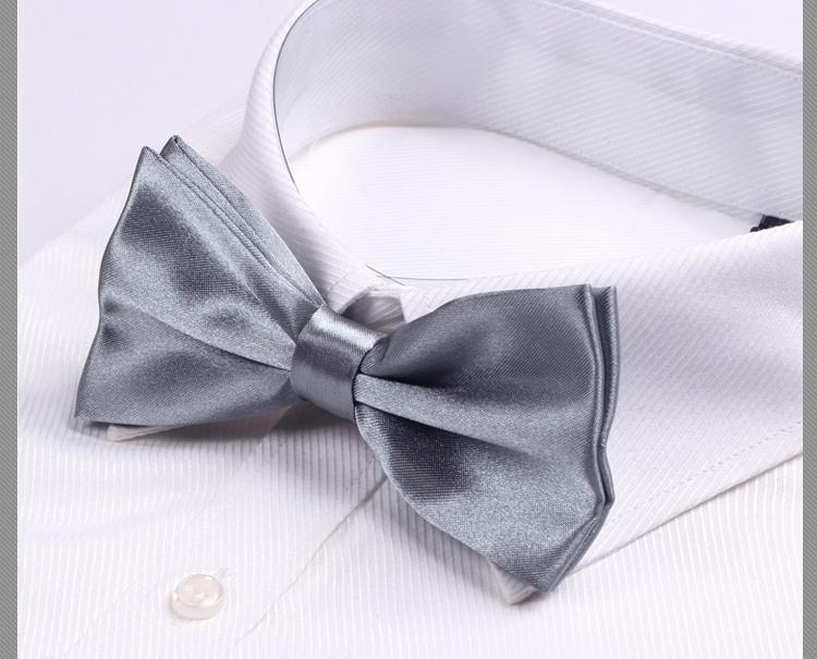 2018 solid color mens bow ties for man necktie gift
