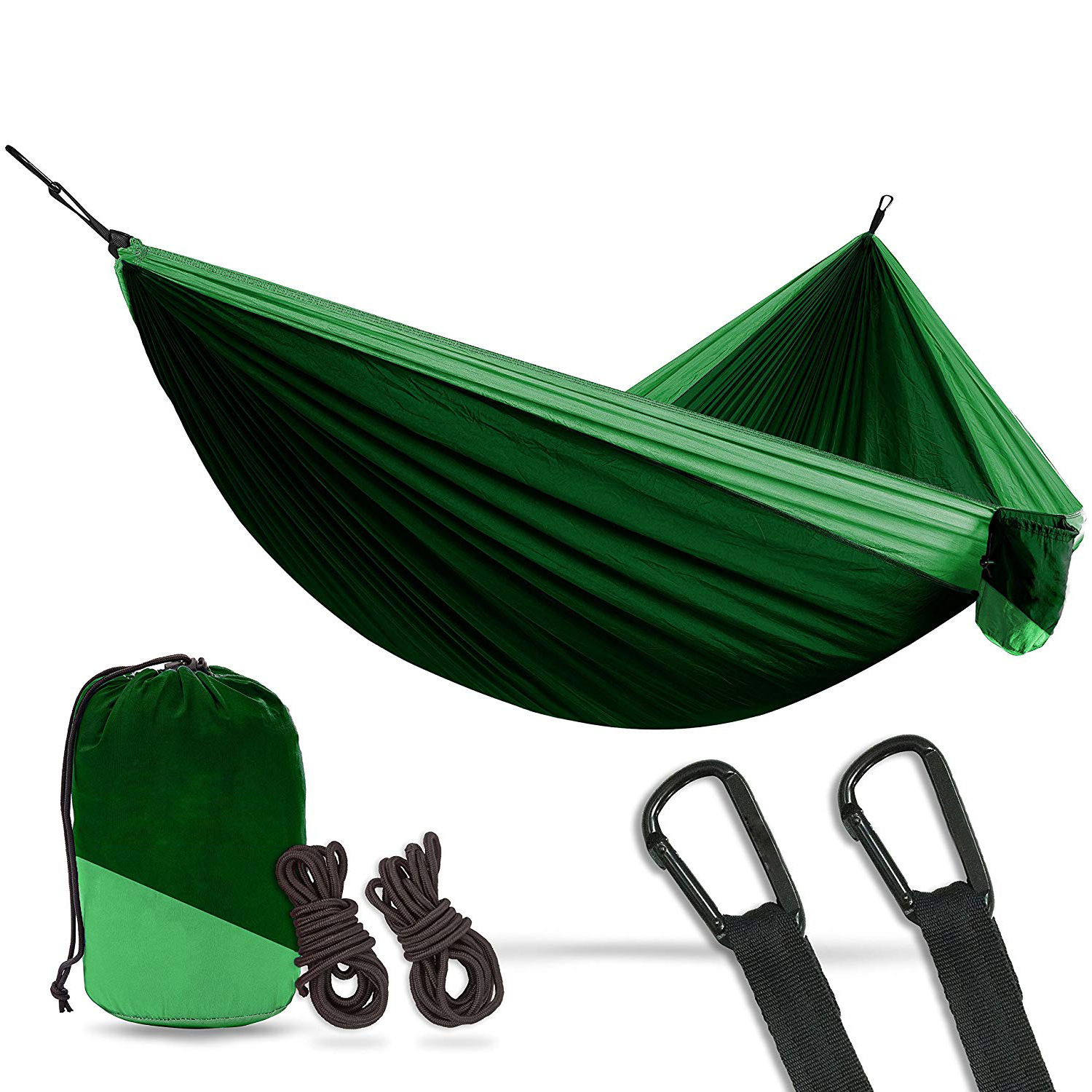 Furniture Sweet-Tempered Camping Parachute Hammock Survival Garden Outdoor Furniture Leisure Sleeping Hamaca Travel Double Hammock 2 Person 300*200cm Outdoor Furniture