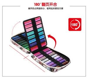 Image 3 - 150 Slot Creative Large Capacity Cute Cartoon Floral Print Multifunctional Pencil Bag Pen Box Pencil Case Art Supplies