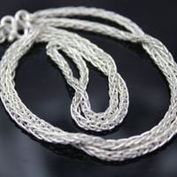 High Quality 2015 Genuine 999 Sterling Silver Link Necklace Set Chains