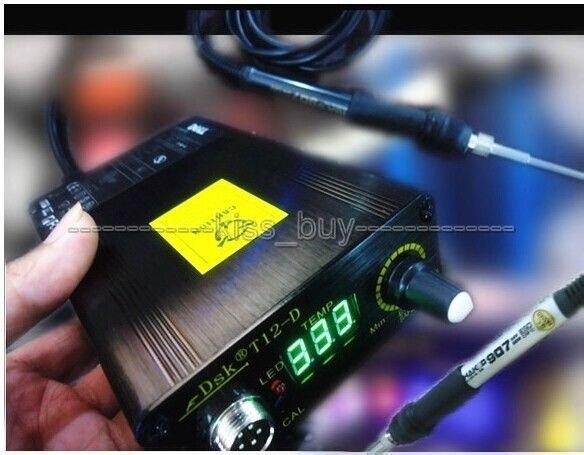 AC 110V 220V digital Soldering Iron Station Temperature Controller T12 Handle Temperature setting range 180 435