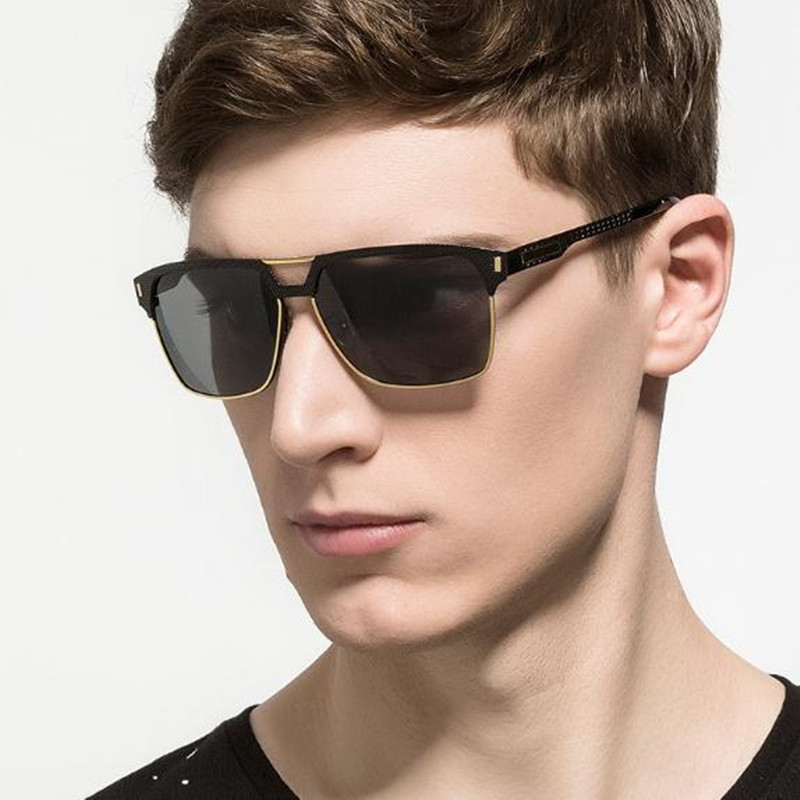 oculos Men's Aluminum Polarized Mens Sunglasses Mirror Sun Glasses Square Goggle Eyewear Accessories For Men Female gafas