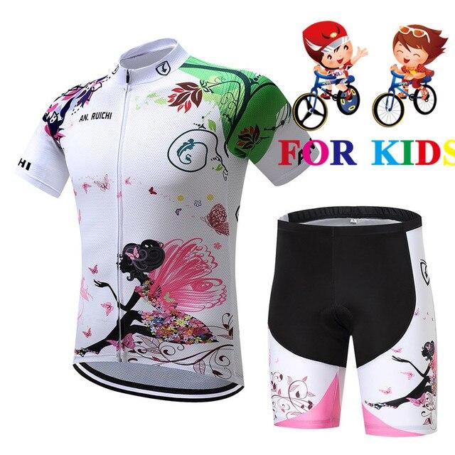 2019 de los niños de verano de chica ropa de montar corta ciclismo Jersey niños bicicleta de carretera ropa deportiva ropa de hombre