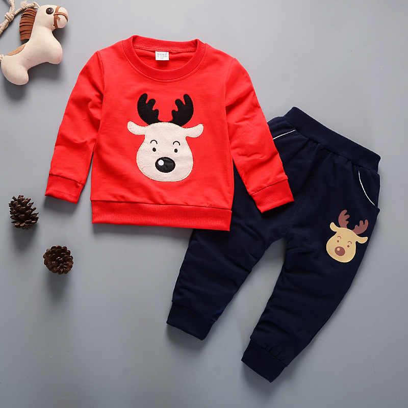 子供のスーツの服 2018 新春と秋の子供セットファッション子羊綿 100% の少年少女長袖スーツ 2 ピース