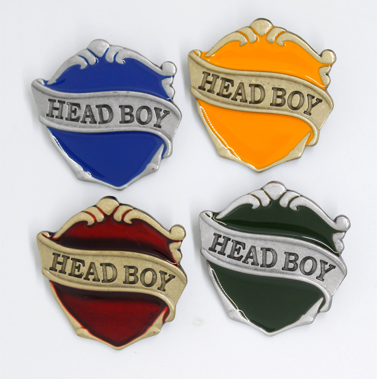 Head Boy Pin Badge Halloween Christmas New Year Birthday Gift Hogwarts School Of Witchcraft And Wizardry Cosplay Emblem