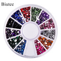 Biutee 12 Colors Nail Rhinestones 2mm Acrylic Nail Art Rhinestones Decoration For UV Gel Phone Laptop DIY Nail Tools