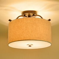 Ceiling Lights Iron Acrylic Fabric Lampshade High Brightness 220V 230V 240V Led Ceiling Lamp Indoor Lighting