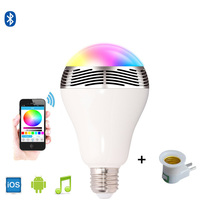 Mini wireless bluetooth speaker WIFI APP smart bulb speakers RGB subwoofer portable speaker with LED lights for Iphone android