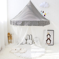 Play Tent For Kids Child Cotton Tent Indoor Teepees For Children Playhouse For Kids Black Crescentic